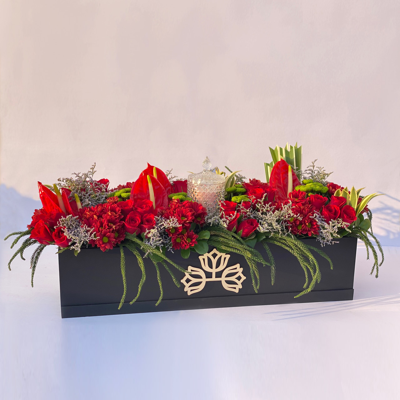 Long Box exotic with candle
